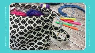 Drawstring Project Bag Tutorial- Day 10 of 12 Days of Last Minute DIY Gifts
