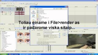 Sony Vegas | Xvid Rendering Tutorial [Lithuanian]