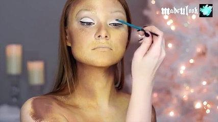 Navidad fantasma inspirado maquillaje de presente Tutorial