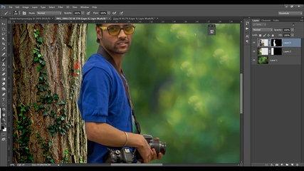 Photoshop Tutorial - Photo Manipulation Change Background & Blending TJ