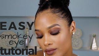 SUPER EASY smokey eye tutorial for beginners || alyssa marie