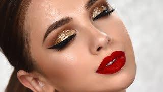 SPECIAL OCCASION Glam Makeup Tutorial | Gold Glitter Smokey Eye