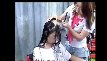 Head Shave ! Full head shaving video (Free hair Videos - Long Hair Cut Hair cutting Videos) (1)