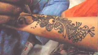 Arabic Mehndi Tattoo Design - New Design For Mehendi/Arabic Mendi Art Tutorial Part 1