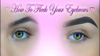 Quick & Easy Eyebrow Tutorial For Beginners ♡