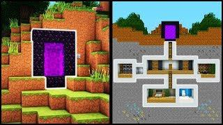 Minecraft: How to Build a Secret Base Tutorial (#6) - Easy Hidden House