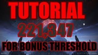 Prestige Nightfall - Tutorial for Bonus Threshold 110k Score - Will Of The Thousands