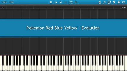 Pokemon Red Blue Yellow - Evolution [Piano Tutorial]