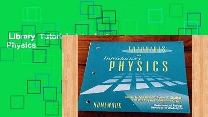 Library  Tutorials Introductory Physics