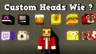 Wie bekommt man Custom Heads in Minecraft | Minecraft Deutsch Custom Heads Tutorial