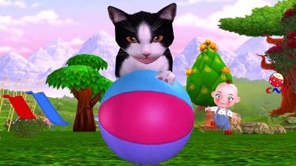 Baby Plays With Funny Cats Dance and Sings For Three Little Kittens Nursery Rhymes