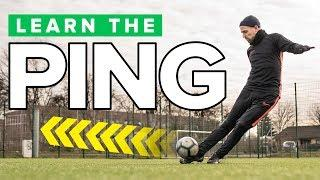 """LEARN THE """"PING""""   Long pass football skills tutorial"""