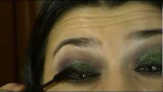 Haifa Wehbi Green Purple Arabic Eyes Makeup Tutorial هيفاء وهبي ماكياج