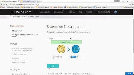 Tutorial # 02 - CLDMINE - Ganhando 1 Bitcoin por Mes