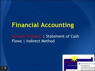 Financial Accounting Online Tutorial 17 | Statement Of Cash Flows For Operating Activities | Indirec