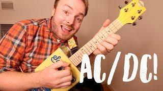 THUNDERSTRUCK - AC/DC (AWESOME ELECTRIC UKULELE TUTORIAL!)