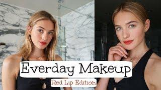 Everyday Makeup Tutorial | Red Lips, Model Makeup, & Simple Looks | Sanne Vloet