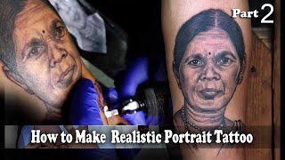 How to Make Realistic Portrait Tattoo | PART - 2 | Tattoo Tutorial - 25
