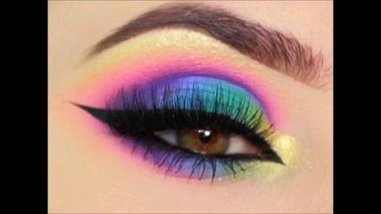 Best Makuep Tutorial -  Rainbow Makeup  Makeup Tricks