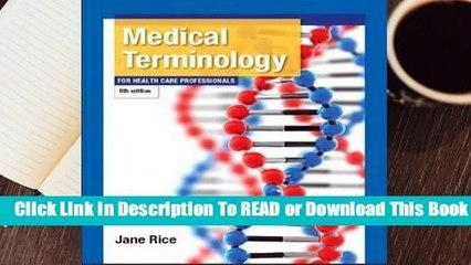 Online Medical Terminology for Health Care Professionals  For Online