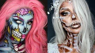 Best Halloween Makeup Compilation 2017   Scary Glam Makeup Tutorial