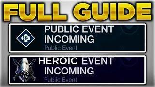 Destiny 2 - UNLOCK ALL Heroic Public Events Guide/Tutorial (Destiny 2 Heroic Events Full Guide)
