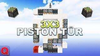 Minecraft - Einfache 3x3 Piston Tür - (Quick) Tutorial 1.13