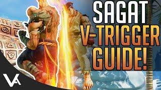 SFV - Sagat V-Trigger Combo Guide! Sagat Tutorial For Street Fighter 5 Arcade Edition