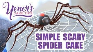 SIMPLE SCARY SPIDER CAKE Tutorial for Halloween | Yeners Cake Tips with Serdar Yener | Yeners Way