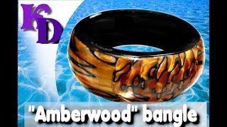 """Amberwood"" bangle using leopard skin effect - polymer clay tutorial 547"