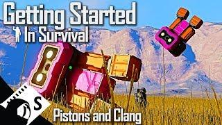 Pistons and Drilling Rigs - Getting Started in Space Engineers #5 (Survival Tutorial Series)