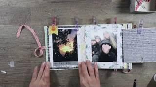 Scrapbook für Anfänger, Tutorial Seitengestaltung Scrapbook Album für Beginner, Scrapbooking