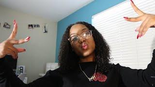 Wash and go hair tutorial ( damaged hair )
