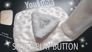 DIY SILVER PLAY BUTTON RUBBER SLIME & SQUISHY TUTORIAL - THANKS FOR 160K SUBSCRIBER [BHS INDONESIA]