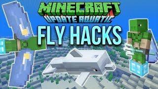 Minecraft 1.13 Elytra Flying Hacks (Minecraft Tutorial)