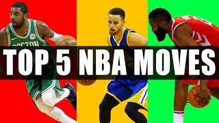 Top 5 NBA Basketball Moves & Crossovers! (Tutorial)