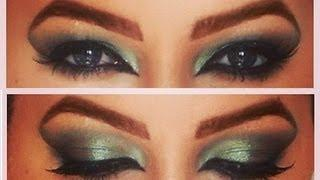 Get Ready With Me: Exotic Green Arabic Makeup Tutorial الغريبة الأخضر عربي مكياج