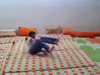 Funny Wrestling - Arab Kids Wrestling In Room