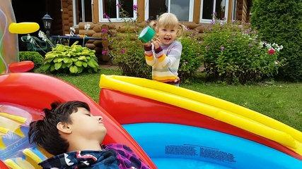 Funny Baby Prank Bad Baby learn colors with