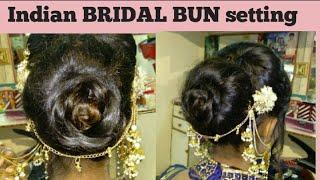 Easy BUN Hairstyle Tutorial Step by step. BRIDAL HAIRSTYLE