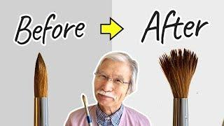 [Eng sub] Custom brush technique | Watercolor painting tutorial for beginners