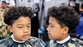 BARBER TUTORIAL: HIGH TAPER | CURLY TOP ON MIXED HAIR