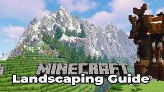 HOW TO BUILD CUSTOM MOUNTAINS : Minecraft Survival Landscaping Guide #3 1.13 Tutorial Let's Play