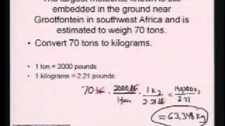 Tutorials For High School Mathematics: Metric And English Unit Conversions And Dimensional Analysis