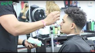 high taper with curly hair barber tutorial