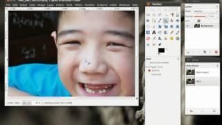 GIMP Tutorial (Thai) : 4  การลบรอยไฝฝ้าด้วย GIMP แบบง่ายๆ
