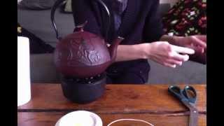 Tea Time In A Cast-iron Tea Pot.