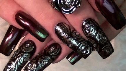 Diva Chrome Nails | Silver Mirror Powder Nail Art Design Tutorial