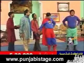 Sajan Abbas Funny Stage Qawali Punjabi Stage Drama