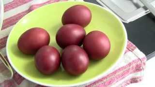 Καλό Πάσχα 2013 ! Pour Coloré Des œufs De Pâques Avec Des épluchure D'oignons !